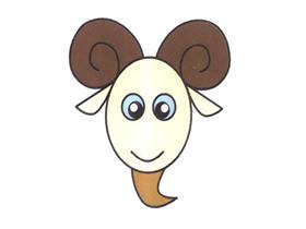 长角的绵羊简笔画画法图片步骤