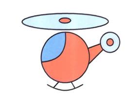玩具直升飞机简笔画画法图片步骤