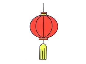 红灯笼简笔画画法图片步骤