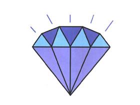 发光的钻石简笔画画法图片步骤