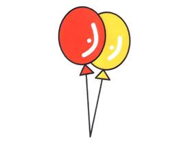 可爱气球简笔画画法图片步骤