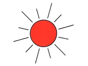 简单太阳简笔画画法图片步骤