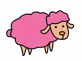 可爱小绵羊简笔画画法图片步骤