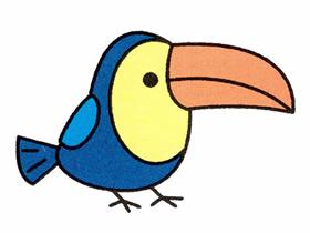飞翔的小鸟简笔画彩色_小鸟简笔画图片大全_小小画家