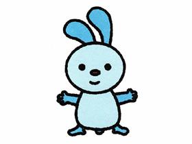 可爱卡通小兔子简笔画画法图片步骤