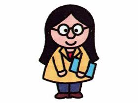 彩色女老师简笔画画法图片步骤