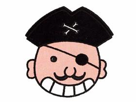 独眼龙海盗简笔画画法图片步骤