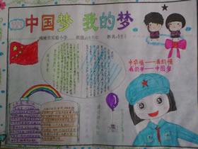 中国梦我的梦手抄报图片
