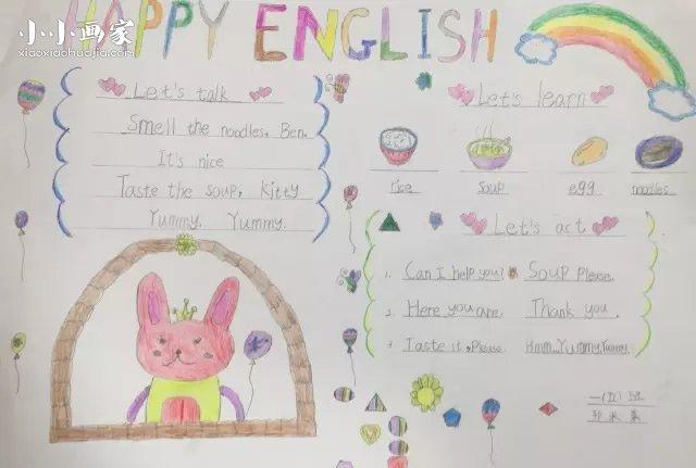 关于卡通食物图片_小学一年级英语手抄报图片_小小画家