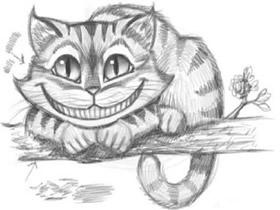 卡通柴郡猫铅笔画画法教程
