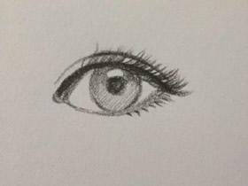漂亮女生眼睛铅笔画画法教程