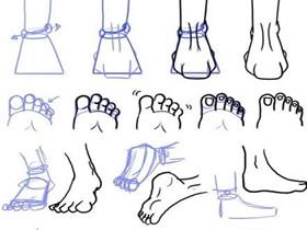 不同样子脚的铅笔画画法教程