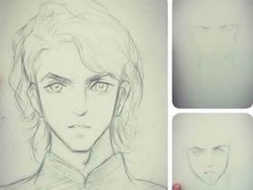 帅气的华英雄铅笔画画法教程