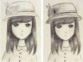 漂亮女生的铅笔画画法教程