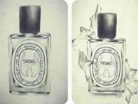 漂亮香水瓶铅笔画画法教程