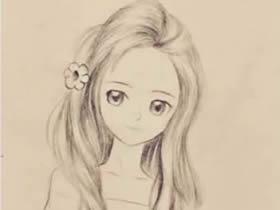 漂亮大姐姐女生铅笔画画法教程