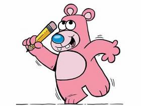 数字3简笔画大熊的画法图片步骤