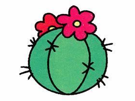 开花的仙人球简笔画画法图片步骤
