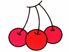 一串樱桃简笔画画法图片步骤