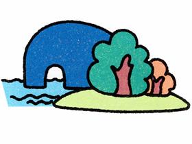 山水风光简笔画画法图片步骤