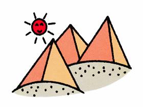 金字塔群简笔画画法图片步骤