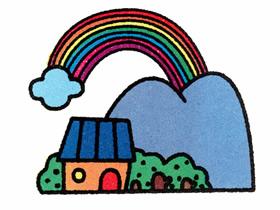 美丽彩虹简笔画画法图片步骤