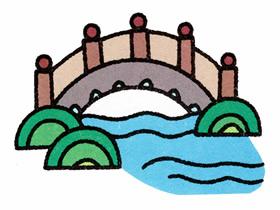 拱桥简笔画画法图片步骤