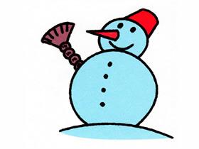 可爱雪人简笔画画法图片步骤