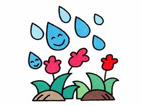 下雨了简笔画画法图片步骤