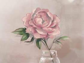 牡丹花彩铅画画法教程