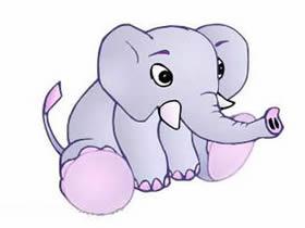 坐着的大象简笔画画法图片步骤
