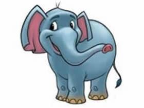 彩色小象铅笔画画法教程