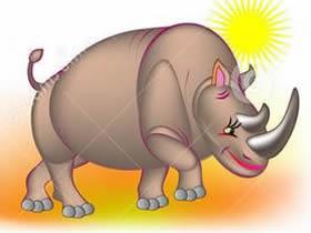 母犀牛简笔画画法图片步骤