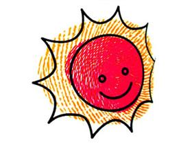 可爱太阳手指画图片教程