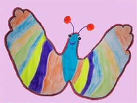 蝴蝶手掌画图片教程