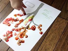 大树手指画图片教程