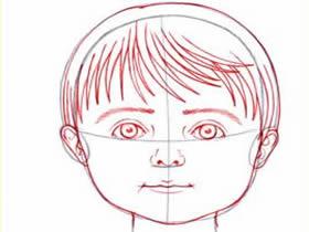 小男孩头部铅笔画画法教程