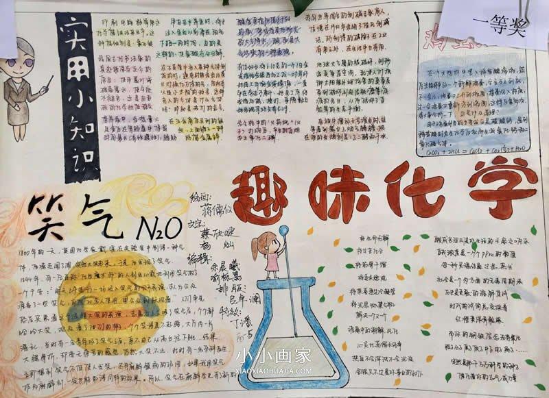 小学生环保画一等奖_化学让生活更美好手抄报图片_小小画家