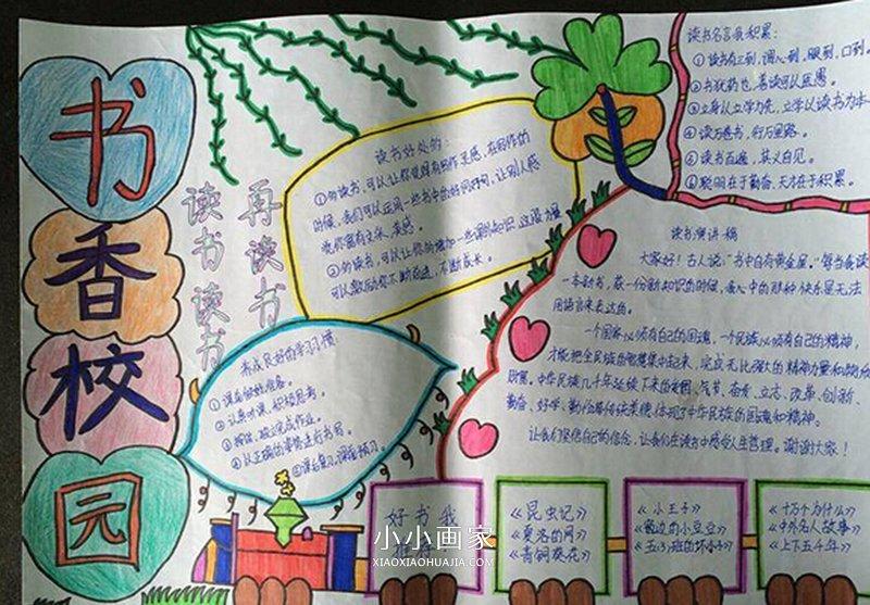 小学生有关学习的手抄报图片_小学生关于校园的手抄报图片_小小画家