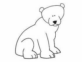坐着的熊简笔画画法图片步骤