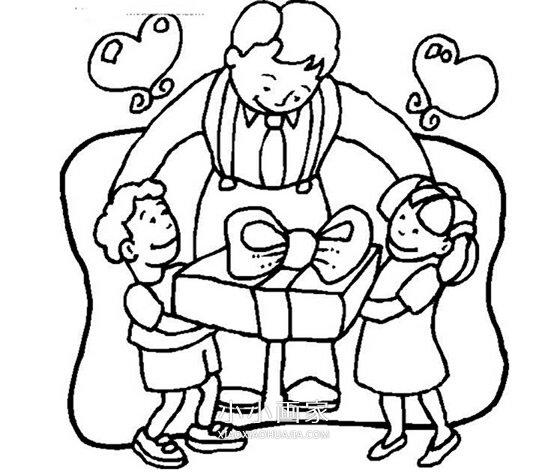 父亲节简笔画画法图片步骤