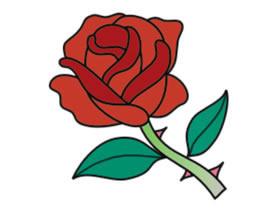 简笔画玫瑰花怎么画   请看简笔画玫瑰花的图片: