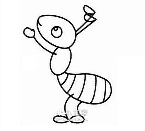 简单小蚂蚁简笔画画法图片步骤 小小画家