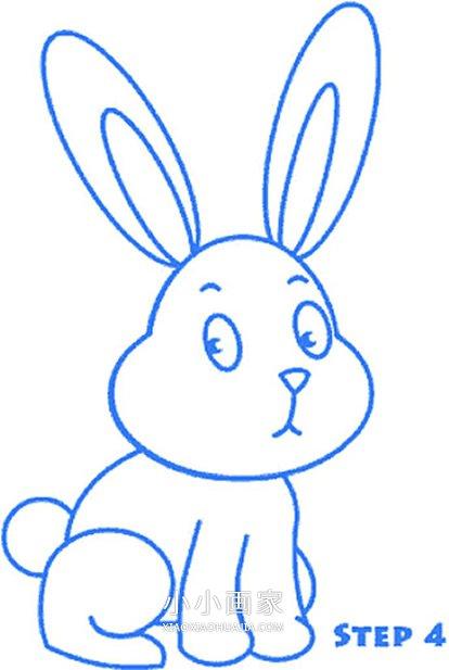 胡巴画法_彩色卡通大白兔简笔画画法图片步骤_小小画家