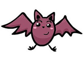 可爱卡通蝙蝠简笔画画法图片步骤
