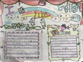 小学生我爱英语手抄报图片
