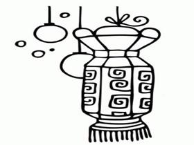 过新年灯笼简笔画画法图片步骤