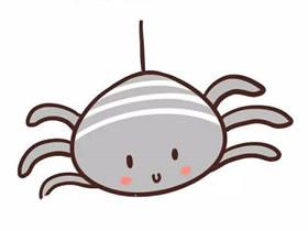 彩色卡通小蜘蛛简笔画画法图片步骤