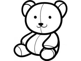 小熊布偶的简笔画画法图片步骤