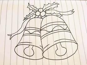 圣诞铃铛简笔画画法图片步骤